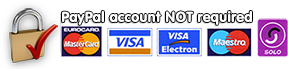 Pay securely by card - no PayPal account required