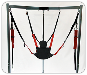 four point sling permitting natural body posture unlike five point slings that curve your back and neck