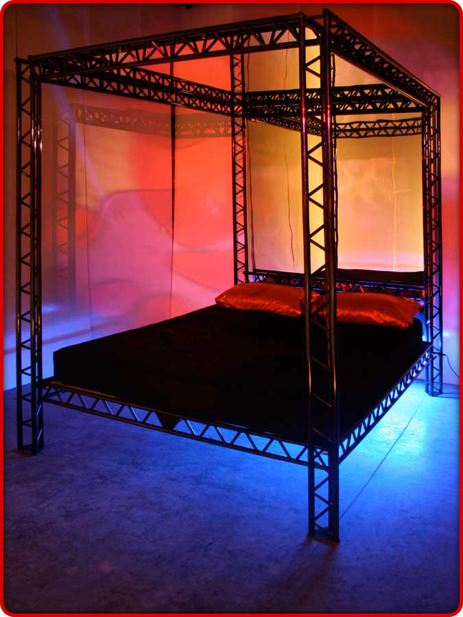The Red Kinky Bed The Ultimate Bondage Kink Bed For